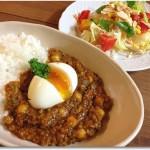 ヒヨコ豆のキーマカレー