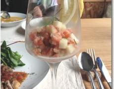 サーモンとりんごのタルタル グラス仕立て