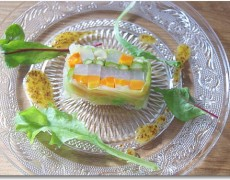 野菜のテリーヌ 粒マスタードソース
