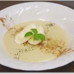 さつまいもと甘栗のデザートスープ バニラアイス添え~名古屋栄養専門学校簡単お菓子講座~