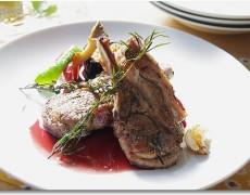 仔羊のハーブロースト 色々お野菜添え 赤ワインソース