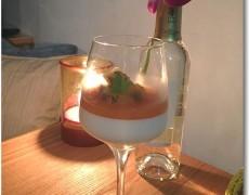 トロピカルフルーツソースのパンナコッタ