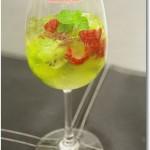 フルーツと白ワインのゼリー ハーブの香り ~名古屋栄養専門学校簡単お菓子講座~
