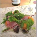 生ハムと柿のサラダ スダチ風味