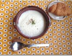 白菜と大根の白いポタージュ