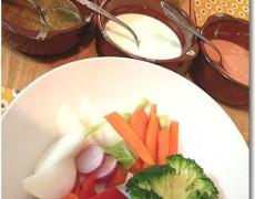 温野菜サラダ 3種のソース