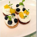 ヨーグルトクリームとフルーツのサブレ