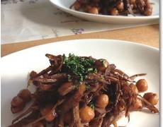 ごぼうとひよこ豆のバルサミコ煮