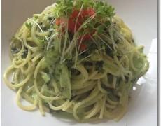 大根菜のソースと明太子のクリームスパゲッティー 海苔の香り