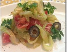 セロリとオリーブ・トマトのサラダ