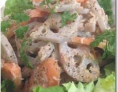 レンコンとニンジンのツナマヨネーズサラダ