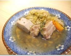 豚ばら肉の塩漬けの和風ポトフ 柚子の香り