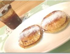 柿ジャムとリンゴのキャラメリーゼのパイ