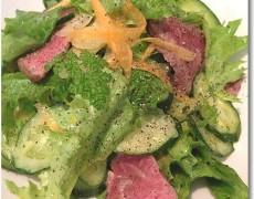 牛フィレ肉の贅沢サラダ 柚子風味