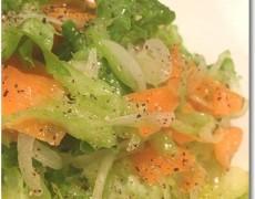 塩漬け柚子ドレッシングのグリーンサラダ
