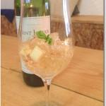 リンゴとハチミツの白ワインゼリー