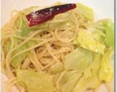 アンチョビと春キャベツのスパゲッティー