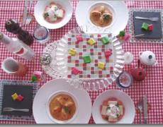 バレンタインレッスンその① クネル編 リヨンのお料理 ーガナッシュ&マジパン × 本格クネル × 白ネギのマリネ&ポーチドエッグー