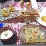 ホワイトデーレッスン ブルターニュのコース料理 (2/16~3/15) ー前菜クレープ2種 × そば粉とミルクのスープ × そば粉のガレット × クレープ・シュゼットー