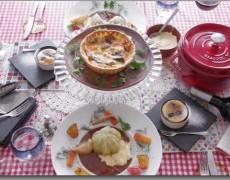 6月のレッスン 初夏のおもてなし料理☆ キッシュ × シュー・ファルシ × さくらんぼのクラフティー