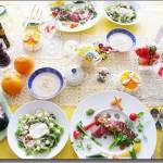 4月のレッスン 春のおもてなしフレンチ♡ ~リヨンの料理~ 牛肉ステーキ×リヨン風サラダ×新玉ねぎのスープ×ジュレ×シャルロット×
