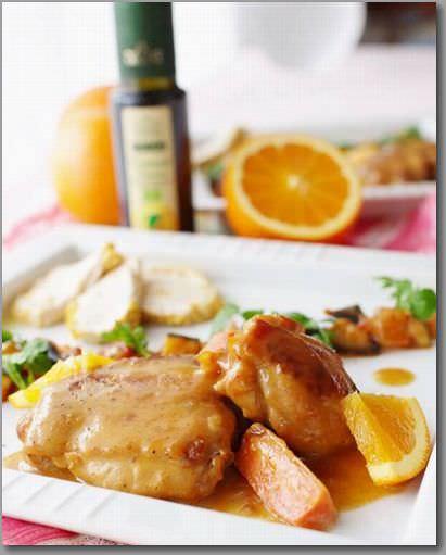 鶏肉のオレンジ煮&蒸し鶏_mini