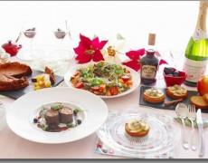 11月のレッスン  ブルゴーニュの美食♡華やぎのクリスマスメニュー☆  カナッペ × リースサラダ × 牛肉のロール × ドライフルーツ赤ワイン煮込み × チョコレートケーキ