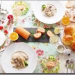 3月のレッスンのお知らせ♪ クリーミーな春のおもてなし!フレンチメニュー ~ロワール地方の料理~ フリカッセ × スモークサーモンとトマトのロール × リエット × パン × クレーム・ダンジュ