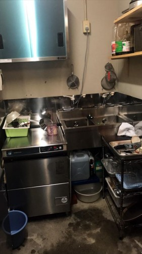 厨房完成流し 間近