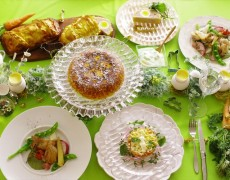 4月のレッスンのお知らせ「卵・羊・鶏・ニンジン♪イースター料理 de 春の本格おもてなしレッスン♡ ~Cuisine de Pâques~」 2019年春のアンコールレッスンです♪